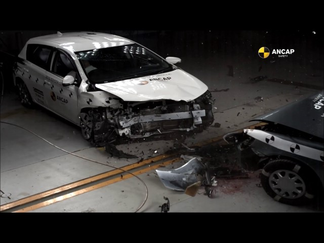 ANCAP CAR-TO-CAR CRASH TEST: 1998 Toyota Corolla vs. 2015 Toyota Corolla