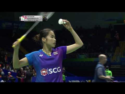 TOTAL BWF Thomas & Uber Cup Finals 2016 | Badminton Day 3/S2-Uber Cup Grp C- THA vs INA (Court 2)