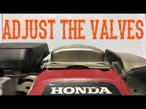 How To Adjust or Set the Valve Clearance or Lash on a Honda GC Engine Video (Includes Lawn Mower)