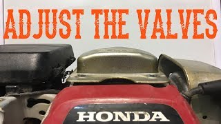 How To Adjust / Set the Valves on a Honda GC Model Engine (Includes LawnMowers)