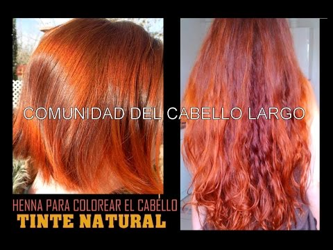 Pintar cabello henna