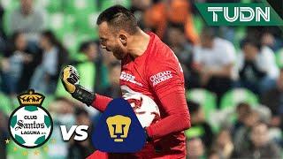 ¡Polémica! Se marca el penal, expulsión y lo falla | Santos 0 - 0 Pumas | Copa MX 8vos Ida | TUDN