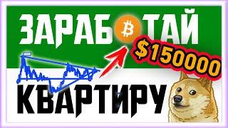 ЗАРАБОТАЙ КВАРТИРУ НА БИТКОИНЕ | Биткоин прогноз 2020 сегодня | Bitcoin | BTC|Криптовалюта заработок