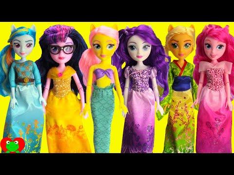 My Little Pony Equestria Girls Wear Disney Princess Costumes