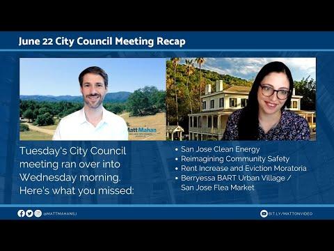 June 22 San José City Council Recap