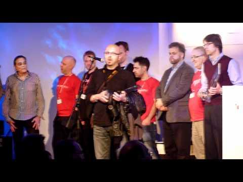 Marco De Virgiliis accepts the 2011 MIPA award for Best Bass Cabinet
