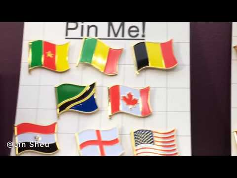 National Flag Pins~ Custom Made Patriot Lapel Pins