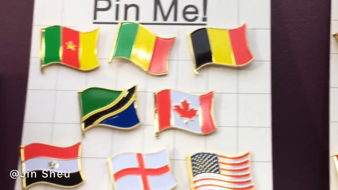 national flag pins~ custom made patriot lapel pins