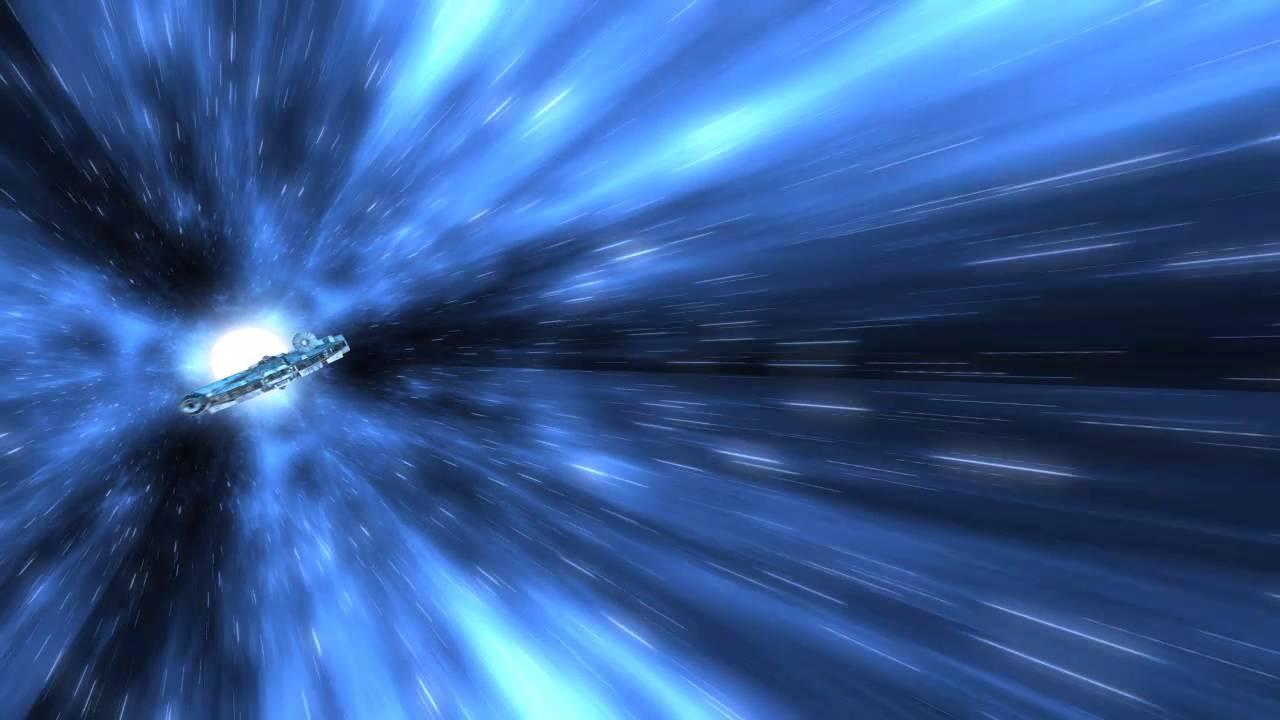Wallpaper 3d Windows 7 1366x768 Star Wars Millennium Falcon Hyperspace Test Force Awakens