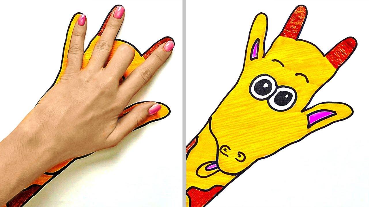 ¡Dibujos de animales con la palma de tu mano!