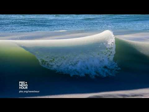 The bomb cyclone turned Nantucket waves into Slurpee slush