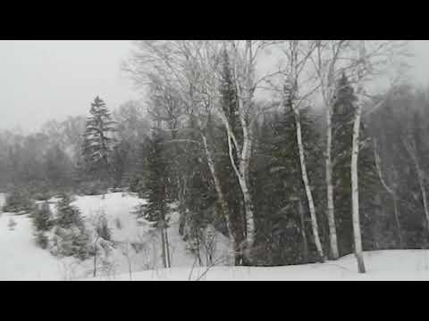 il neige ; 17 avril 2018  / Haute-Matawinie  Qc