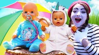 Детские видео с куклами - БЕБИ БОН едет на Пикник! - Лучшие игры для детей с игрушками Baby Born