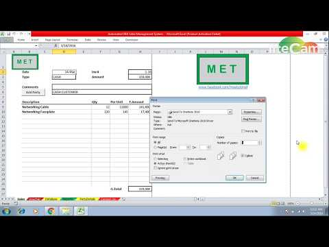 Invoice System In Ms Excel Advance Tutorial - YouTube