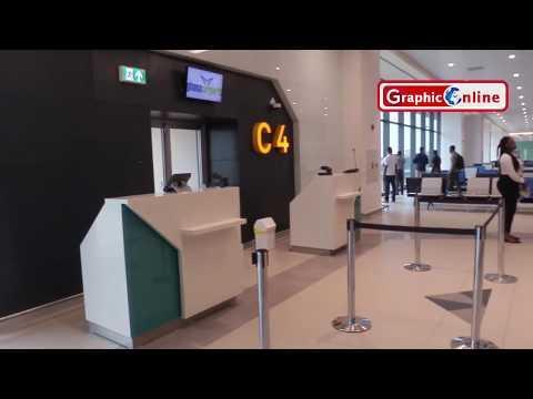 Inside the new Terminal 3 of the Kotoka International Airport