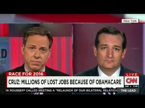 Ted Cruz Talking #ATimeForTruth with Jake Tapper on CNNs The Lead