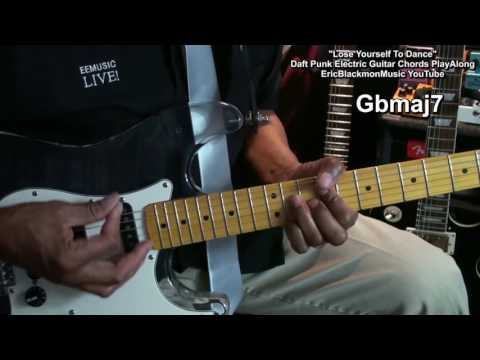 LOSE YOURSELF TO DANCE Guitar Chords Play Along Daft Punk Nile Rodgers Pharrell Williams