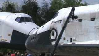 Space Shuttle Discovery and Enterprise Nose to Nose