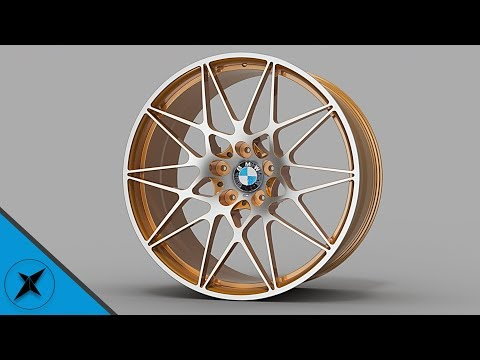 BMW ///M Alloy Wheel Speed Modelling, Inventor Modeled & Fusion 360 Rendered