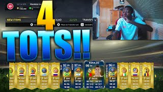 4 TOTS IN THE SAME PACK...YES 4 TOTS IN ONE PACK !!! BEST FIFA 15 TOTS PACK OPENING EVER