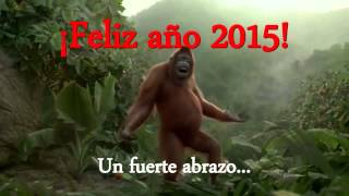 ¡Feliz Año 2015! monkey dancing Pharrell Williams-Happy (from Despicable Me 2) Video