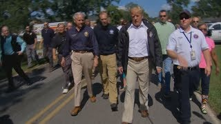 President Donald Trump Tours South Carolina to Look at Flooded Areas