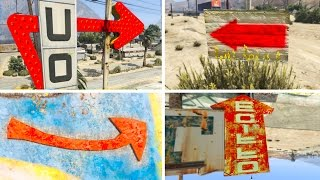 WHAT HAPPENS WHEN YOU FOLLOW THE SECRET HIDDEN ARROW SIGNS IN GTA 5? (GTA 5 Easter Eggs)