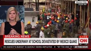 Live Rescues underway at School devasted by Mexico Quake