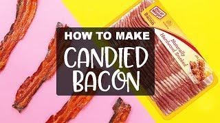 PERFECT Candy Bacon, EVERY TIME! Maple glazed Oscar Mayer Bacon Cupcakes Recipe