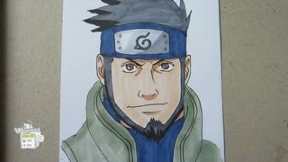 How to draw Asuma 猿飛アスマ