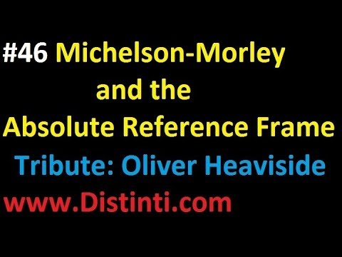 emv046: Michelson-Morley and the absolute reference frame