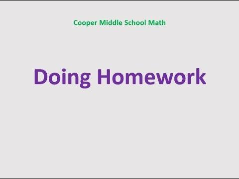 Cooper MS Math Info Homework