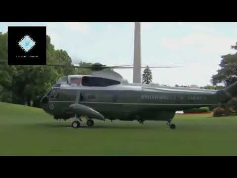 President Donald Trump Depart  with Family From White House for Saudi Arabia on Marine One 30/1/18
