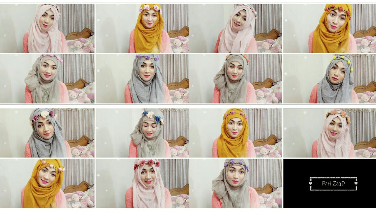 to wear - How to flower wear crown with hijab video