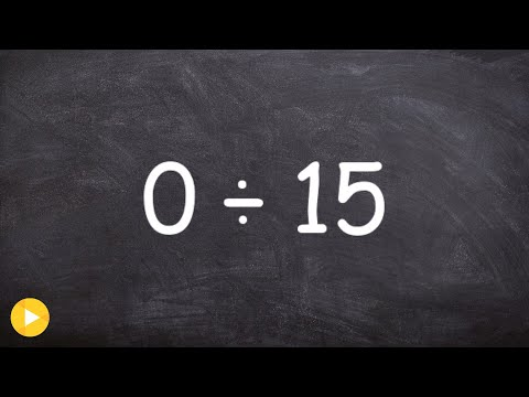 Basic Math - Dividing a zero by a number and dividing a number by zero