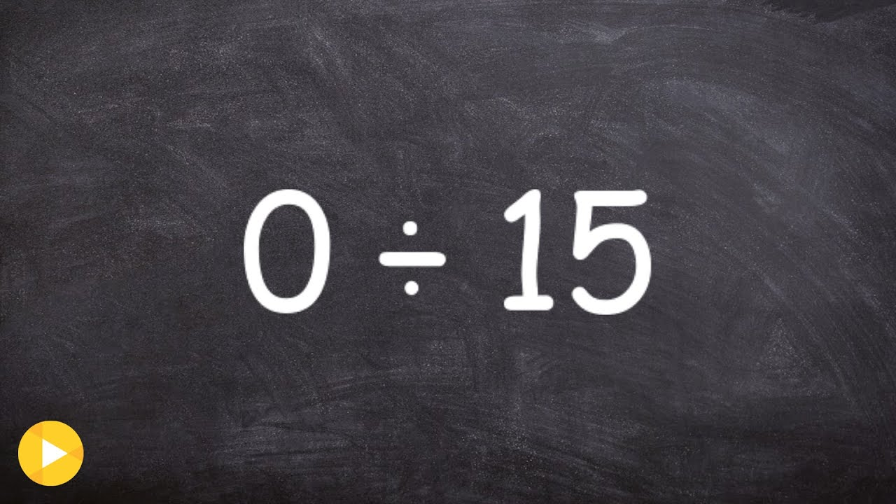 Basic Math - Dividing a zero by a number and dividing a number by ...