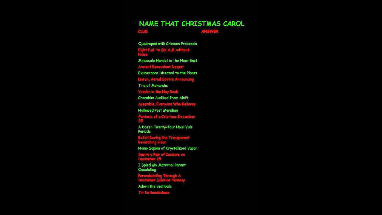 Free Printable Christmas Quiz Party Delights Blog Pertaining To