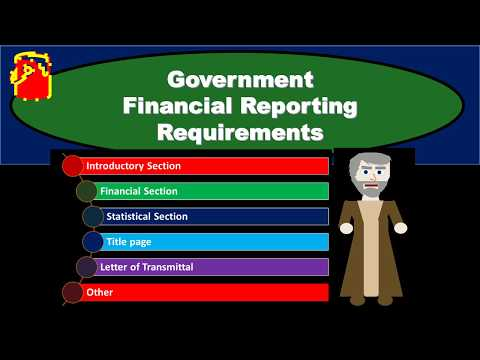 Government Financial Reporting Requirements - Governmental Accounting