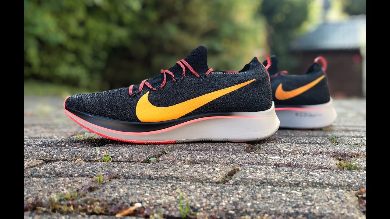 168e34cc3328 Nike Zoom Fly Flyknit  orange black