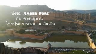 นั่งชมAmber Ford กีบฝํงค่างแว่น Hanuman Jagurs at Amber Ford , Jaipur , Rajasthan