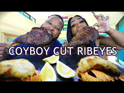 grilled-cowboy-cut-steaks-and-lobster-tails