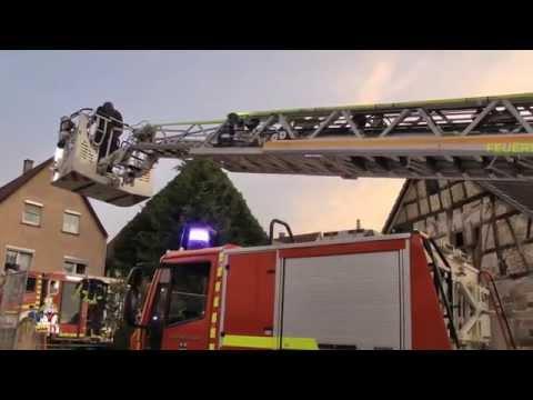 Löschübung Freiwillige Feuerwehr Neckarsulm am 17.07.2015 in Dahenfeld
