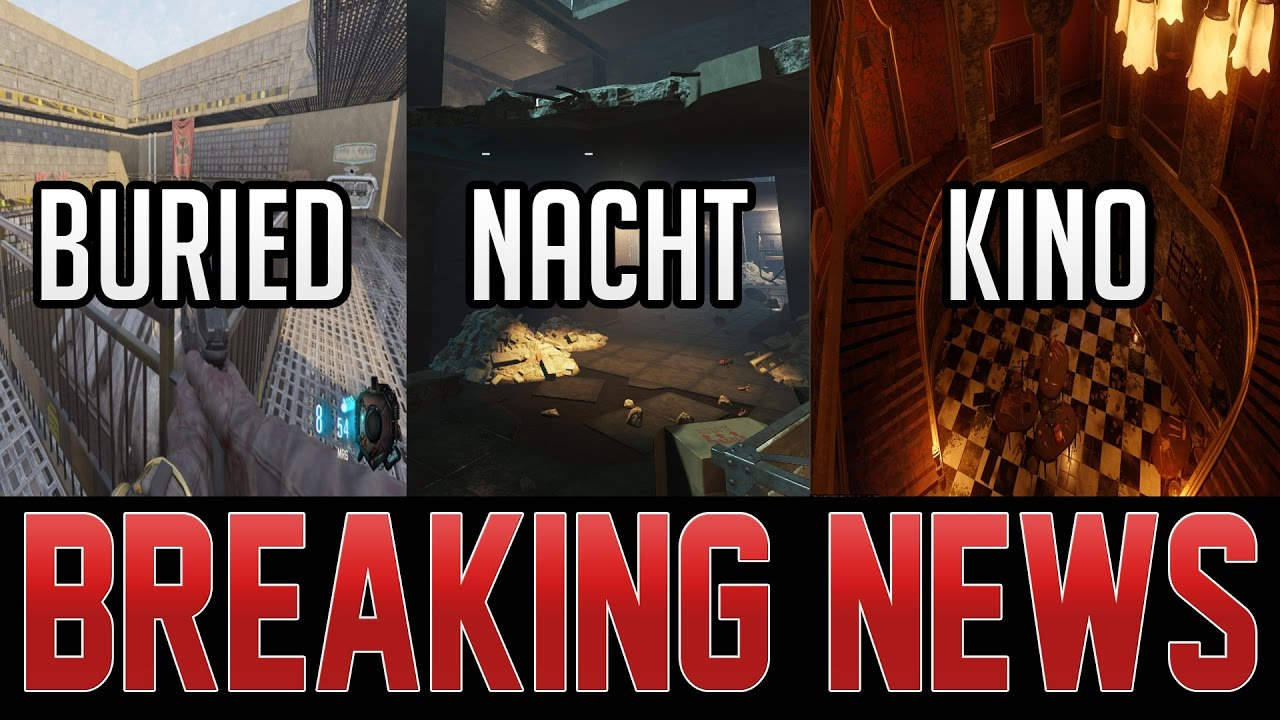ALL REMASTERED ZOMBIES MAPS IN BLACK OPS 3 MOD TOOLS SO FAR! THUNDERGUN  PATCHED ON REVELATIONS!