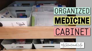 ORGANIZE YOUR MEDICINE CABINET // BATHROOM STORAGE // My Intentional Life