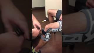 How to Put on a Don Joy Medial Unloader Brace
