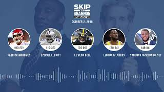UNDISPUTED Audio Podcast (10.02.18) with Skip Bayless, Shannon Sharpe & Jenny Taft   UNDISPUTED
