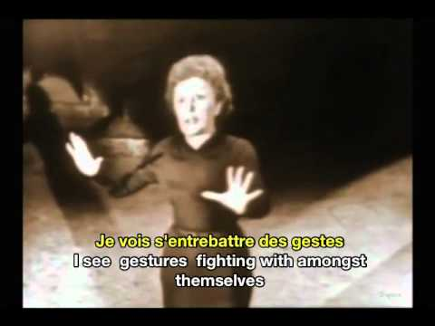 Edith Piaf Padam Padam French and English Subtitles