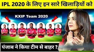 IPL 2020 : KXIP Team can Released these 7 Players | IPL 2020 KXIP Team | KXIP Released Players 2020
