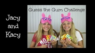 Guess the Gum Challenge ~ Jacy and Kacy