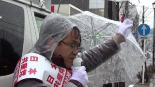 2015年山梨県知事選挙候補 花田仁さんの街頭演説